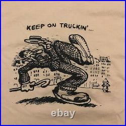 Vintage Robert R. Crumb T Shirt Keep On Truckin 1970s Grateful Dead Large L
