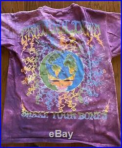 Vintage T-Shirt Grateful Dead 2 Sides Graphics Skelton Earth Graphics