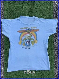 Vintage T-shirt Medium Grateful Dead 1981 Tour Shirt Blue