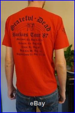 Vintage The Grateful Dead concert T Shirt 1987 Colorado Rockies Tour Rare medium