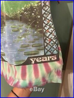 Vintage Trinity Grateful Dead Stealie Tie Dye Shirt Size Medium