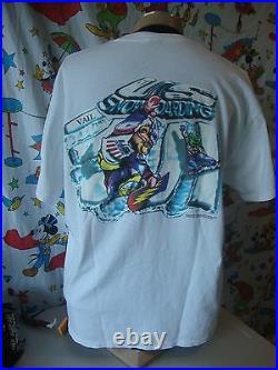 Vintage U. S Snowboarding Grateful Dead 90's Bears Ski Snowboard tour T Shirt XL