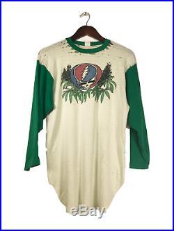 Vintage VTG 70s Raglan Grateful Dead Distressed Fragile Marijuana Shirt