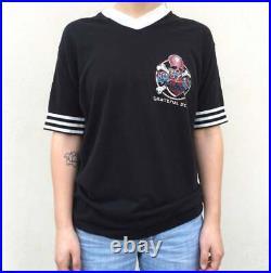 Vintage VTG 80s 1980s Black Ringer Grateful Dead Band Tee T Shirt