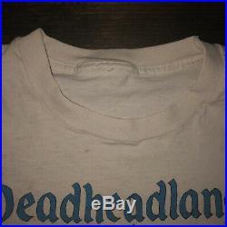 Vintage Vtg 90s Grateful Dead Deadheadland Tie Dye Band T-shirt Size XL