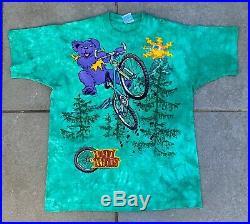Vintage Vtg Grateful Dead Liquid Blue 1995 Dead Treads Bear T-shirt Size XL