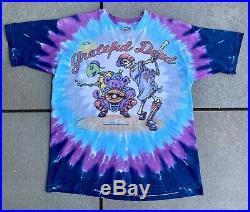 Vintage Vtg Grateful Dead Tye Dye Steal Your Base T-shirt Size XL