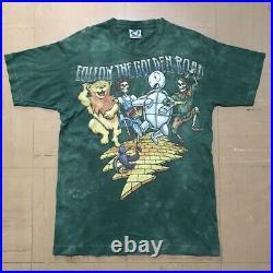 Vintage grateful dead 1994 wizard of oz t shirt liquid blue tye dye size Large