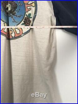 Vintage grateful dead quarter sleeve shirt 1978 baseball 70s Tour Band Rock