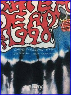 Vtg 1990 Grateful Dead Twenty Five Years T-Shirt Tie Dye XL 90s Rock Band