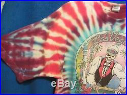 Vtg 1992 Grateful Dead Silver State Vegas Nevada Spring Tour tie dye t-shirt XL