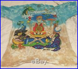 Vtg 1992 Joey Mars Art Grateful Dead All Over Print T Shirt Liquid Blue 90s XL