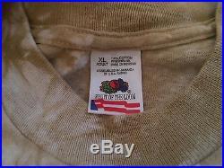 Vtg 1995 Grateful Dead Las Vegas Concert Tour Tie Dye T-Shirt XL