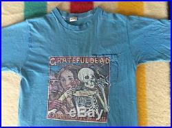 Vtg 70s Grateful Dead Skeletons From The Closet 1974 T shirt BVD pocket tee