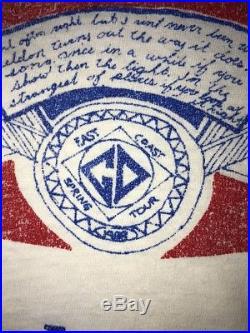 Vtg 80s Grateful Dead Spring Tour Shirt Budweiser Parody USA Made Hi Cru