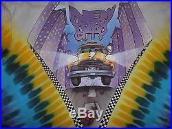 Vtg'90 GRATEFUL DEAD NYC New York City MSG Tour Concert T-Shirt Mens XL Taxi