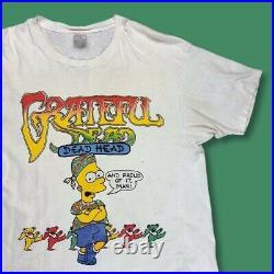 Vtg 90s Grateful Dead Bart Simpson Single Stitched Rare T-shirt