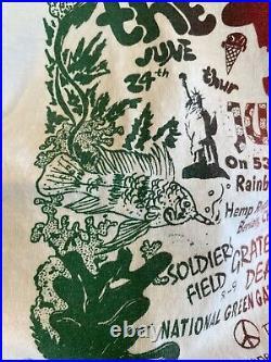 Vtg 90s Grateful Dead Shirt Weed Single Stitch Rare Size XL CRAZY Pearl Jam