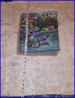 Vtg Grateful Dead Bear L. L. Rain Bean Fishing 1996 Concert Tour Shirt 2xl