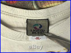 Vtg Grateful Dead Liquid Blue Pinkerton Tie Dye Size XL T-shirt (038)