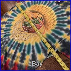 Vtg Grateful Dead Lithuania 96 1996 Tie Dye Single Stitch T-Shirt Sz XXL NICE
