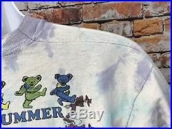 Vtg Grateful Dead Tie Dye Truckin Summer 1991 Lot T-Shirt Size XL (047)