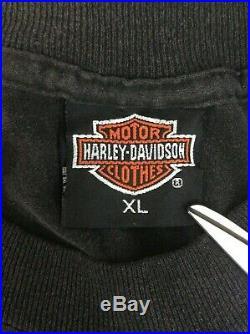 Vtg Harley Davidson Grateful Dead 3D Emblem T Shirt Size XL Daytona 1991 (101)