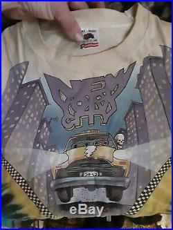 XL vtg 1990 GRATEFUL DEAD New York City MADISON SQUARE GARDEN tie dye t shirt