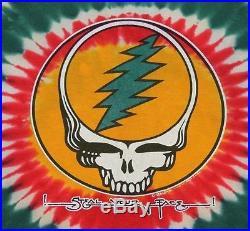 XL vtg 80s 1988 GRATEFUL DEAD Steal Your Face tie dye t shirt 37.118